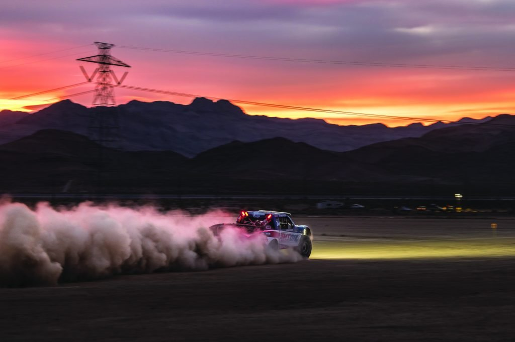 Racing into the night adds excitement during the Mint 400
