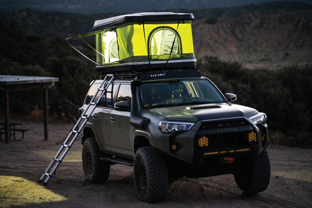 4Runner with Outer Tents Osprey hardshell tent